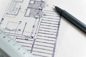 Des plans d'architecte représentant un appartement avec sa construction