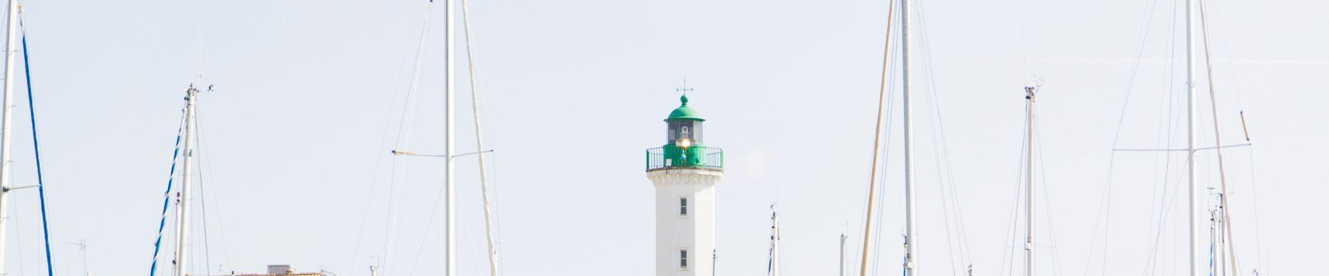 Vue sur le port de La Rochelle